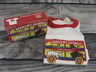 Nabisco Barnum Circus Animal Cookie Collectible Box Child T-shirt 10-12