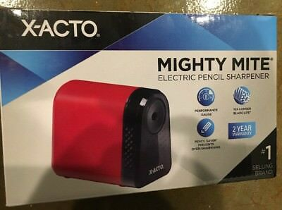NEW X-Acto Mighty Mite Electric Pencil Sharpener - Red