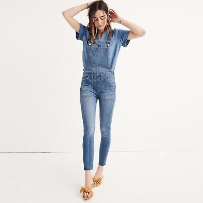 NWT Madewell Skinny Overalls in Kemp Wash - Denim Jeans Skinny Overalls H5926