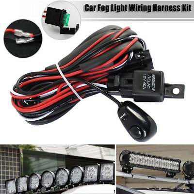 Wiring Harness Switch Relay Kit for Connect 2 LED Work Driving Light Bar Car RC