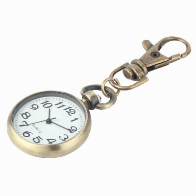 Pocket Watches Dial Keychain Round Key Chain Keyring Movement Pocket Watch