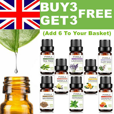 Essential Oils 10ml 100% Natural Aromatherapy Essential Oil ❤BUY 3 GET 3 FREE❤UK