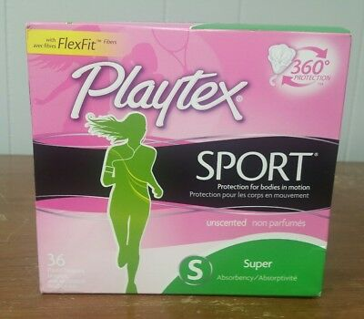 Playtex Sport Super Absorbency Tampons Unscented Plastic Applicator 36 count