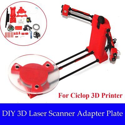 Open Source 3D Laser Scanner Adapter Object Plate For Ciclop 3D Printer DIY qi