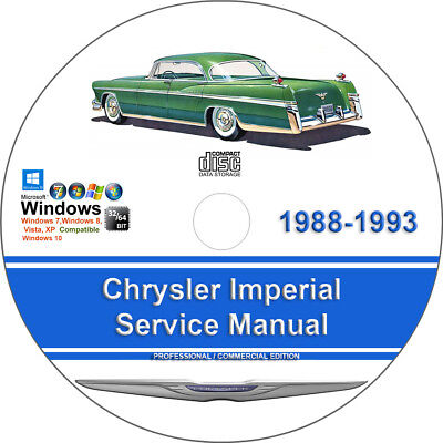 chrysler imperial 1988 1989 1990 1991 1992 1993 factory service repair  manual