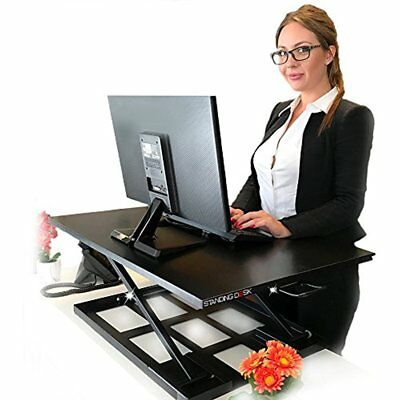 Standing Sit Stand Up Desk Easy Height Adjustable Table Jack Converter With Huge