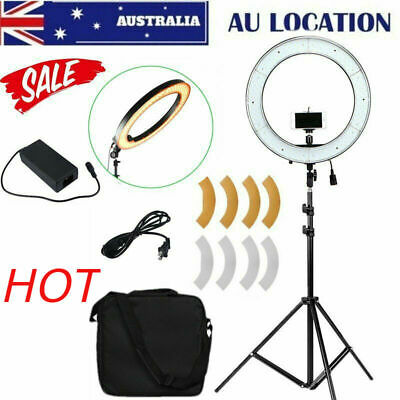 "19"" ES240 5500K Dimmable Diva LED Ring Light W/ Diffuser Stand Make Up Studio X"