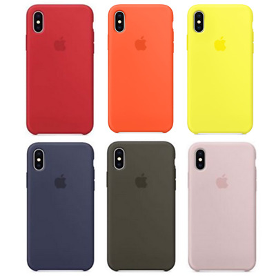 Luxury Original Silicone Cover Ultra-Thin Back Case For iPhone 5 5S 6 Plus 7/8 X