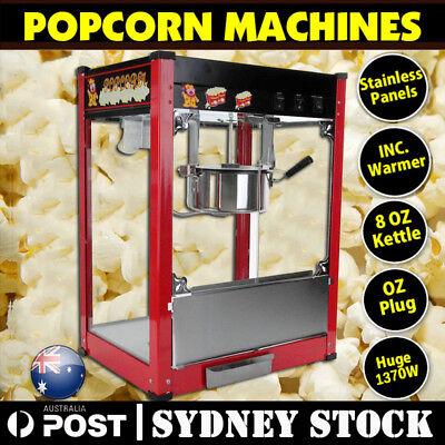 1370W Commercial Stainless Steel Popcorn Machine Red Pop Corn Warmer CookerA