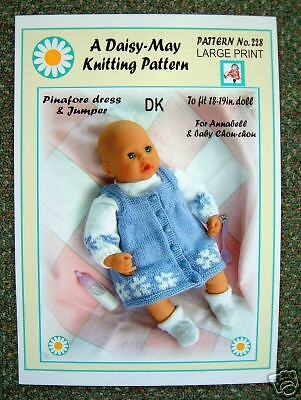 1 DOLLS KNITTING PATTERN for 17 to 19 inch doll  Annabell No 228 by Daisy-May