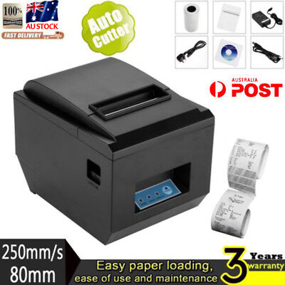 80mm ESC POS Thermal Receipt Printer Auto Cutter USB Network Ethernet H-Speed EW