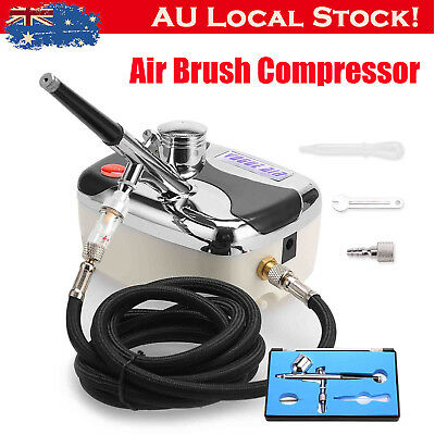 Compressor Airbrush Kit - 0.3mm Dual Action Spray Air Brush Gun Art Tattoo Set E