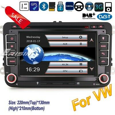 DAB+Autoradio For VW Seat Skoda Leon Golf Polo EOS Bluetooth CD USB 3G GPS 7148F