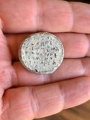 Byzantine Lead Seal / Bleisiegel, St George/greek Inscription, Attractive Piece!