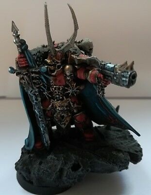 Warhammer 40K Chaos Space Marine Lord Kranon the Relentless / Painted