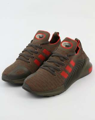 adidas Climacool 02/17 PrimeKnit Trainers in Branch Green & Red olive khaki SALE