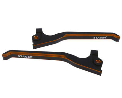 Bremshebelset STAGE6 CNC Dual Color Peugeot Jetforce orange