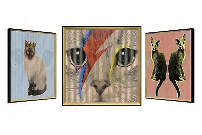 Cuadro lenticular 3D 'CHRONICLES OF CATS' | Hecho a mano | Cuadro mural Arte ...