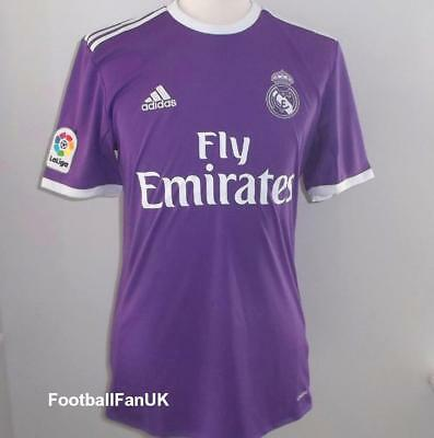 REAL MADRID 2016/17 Official Adidas Away Shirt NEW Purple Camiseta Jersey 16/17
