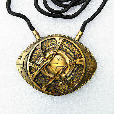 US  Dr Doctor Strange Pendant Eye Of Agamotto Necklace Cosplay Pendent New