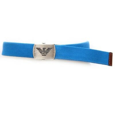 4863V cintura bimbo ARMANI JUNIOR cinture blu royal cotton belt kid boy