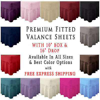 """Fitted Valance Sheet 26"""" Extra Deep Bedding Pleated Box Single Double King Super"""