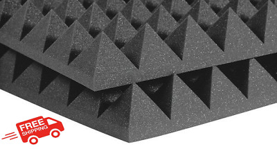2 Large Acoustic Foam Sound Treatment Tiles Studio Room Sound Proofing 1m² 50mm