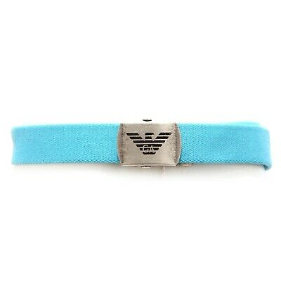 4838V cintura bimbo ARMANI JUNIOR cinture azzurro cotton belt kid