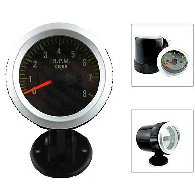 "1PC 2"" 52mm 0-8000RPM Car LED Pointer Tach Tachometer Gauge Auto with Holder Cup"