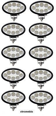 10X 12V 24V Led 24W Work Lamp Flood Oval Light Iveco Daf Man Scania Volvo