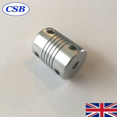 Flexible Stepper Motor Coupler 5mm x 8mm CNC 3D Printer