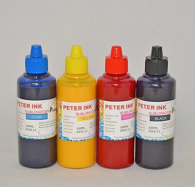 4X100ml Sublimation ink refills for Epson WF7720 WF7710 WF7210 Cartridge CISS U