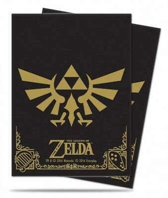 Ultra Pro 65 pochettes The Legend of Zelda Black and Gold Deck Protector 852054