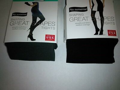 f84963a9ec506 No Nonsense Women's Tights Slimming Shaping Great Shapes Black, Charcoal S M
