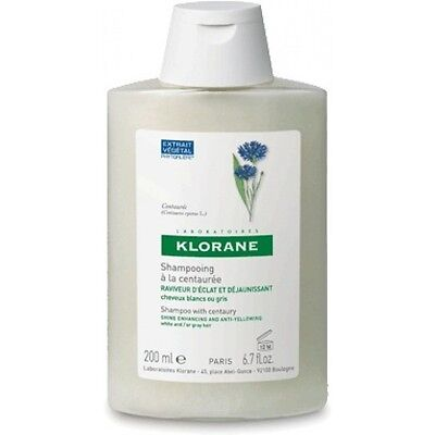 Klorane Shampoo With Centaury For White and Gray Hair 200ml