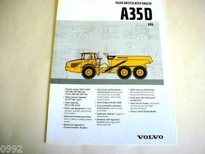 Volvo A35D 6x6 Articulated Truck Brochure