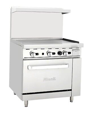 """Migali C-RO-36G 36"""" Griddle Top with Oven Liquid Propane"""