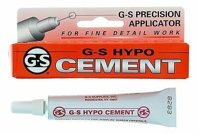 G-S HYPO CEMENT GLUE 9ML Jewellery & Craft Glue Plastic Repairs Clear DIY GS
