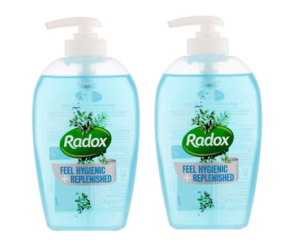 TWO Radox HANDWASH With Thyme & Tea Tree Oil 250ml  Feel Hygienic + Replenished
