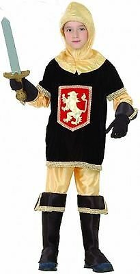 Boys Medieval Knight Fancy Dress Outfit World Book Day Costume Small