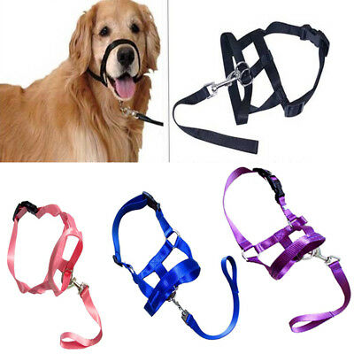 Pet Gentle Leader Dog Training Head Collar Muzzle Harness Stops Pulling Leashes
