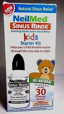 NeilMed Sinus Rinse Kids All Natural 30 Premixed Packets Exp 07/18 NEW SEALED
