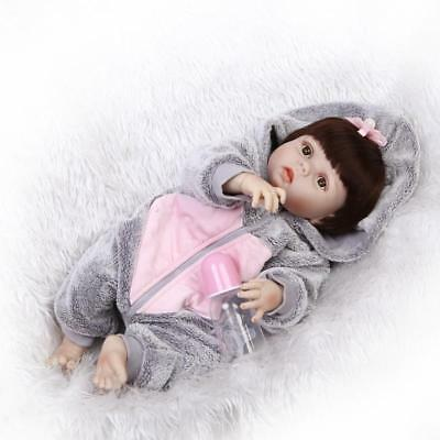 "Reborn  Girl Doll 22"" Full Body Vinyl Silicone Realistic Washable Bath Gift"