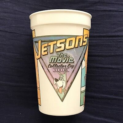 JETSONS The Movie 1990 Wendy's Collector Cup Series ( vintage plastic cup )