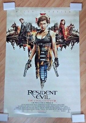"RESIDENT EVIL THE FINAL CHAPTER 2017 Original DS 2 Sided 27x40"" US Movie Poster"