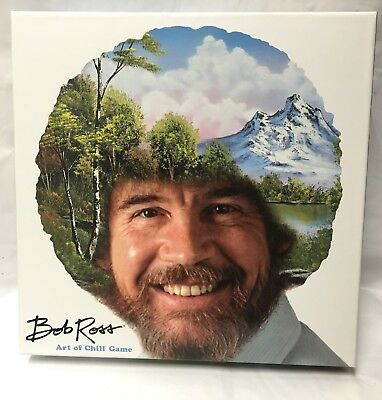 Bob Ross The Art of Chill Board Game NEW unopened pieces