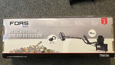 Nokta Fors Relic Metal Detector Boxed Used Once Only A Must