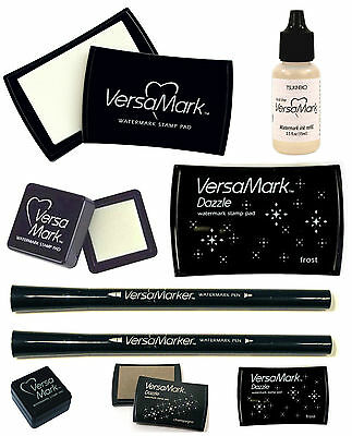 Versamark Watermark Embossing Small Large Ink Pad, Refill, Dual Pen, Dazzle