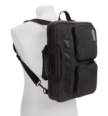 "NEW HEX RADAR Convertible Briefcase Water resistant BACKPACK FOR 13-15"" LAPTOPS"