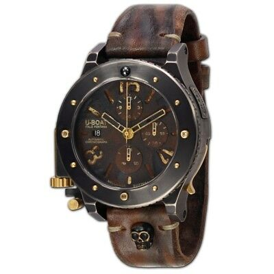 U-Boat Unicum-47 Black Titanium & Gold 47mm Chronograph Automatic Watch 6473